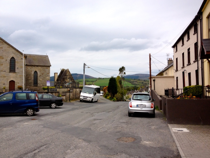 the first town we visited in Ireland. Not sure what it was called.  Nice people fed us a traditional Irish breakfast.