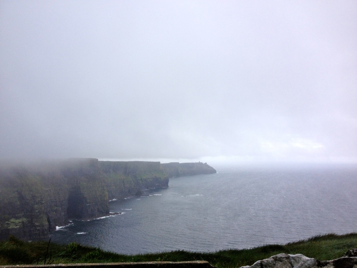 The Cliffs of Moher. Pictures can't capture how tall and expansive these cliffs are.