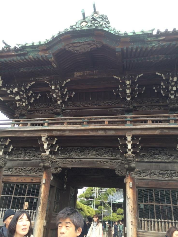 The entrance to the temple at Shibamata.