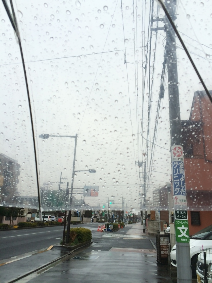 Kanamachi in the rain.