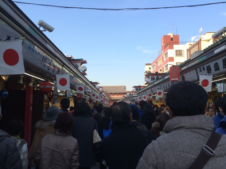 The stalls in front of the Asakusa temple.