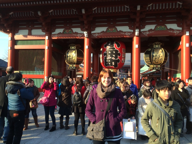 Me in front of the Asakusa temple.