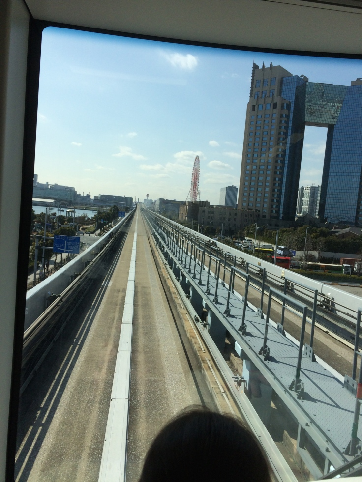 The monorail across the Rainbow Bridge.