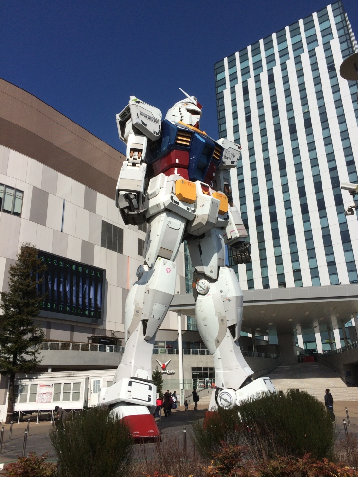 The Gundam Statue in Odaiba.