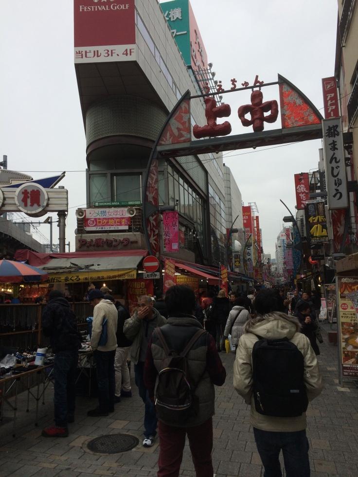 The American Black Market in Ueno.