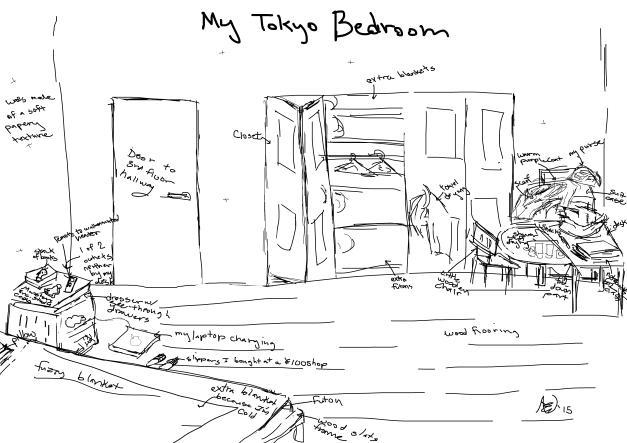 japan room drawing