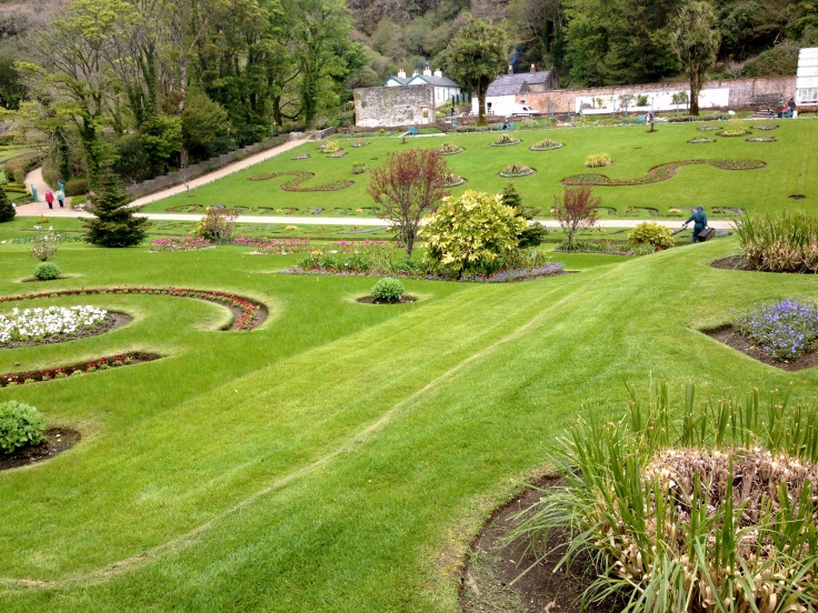 The gardens at Kylemore Abbey.