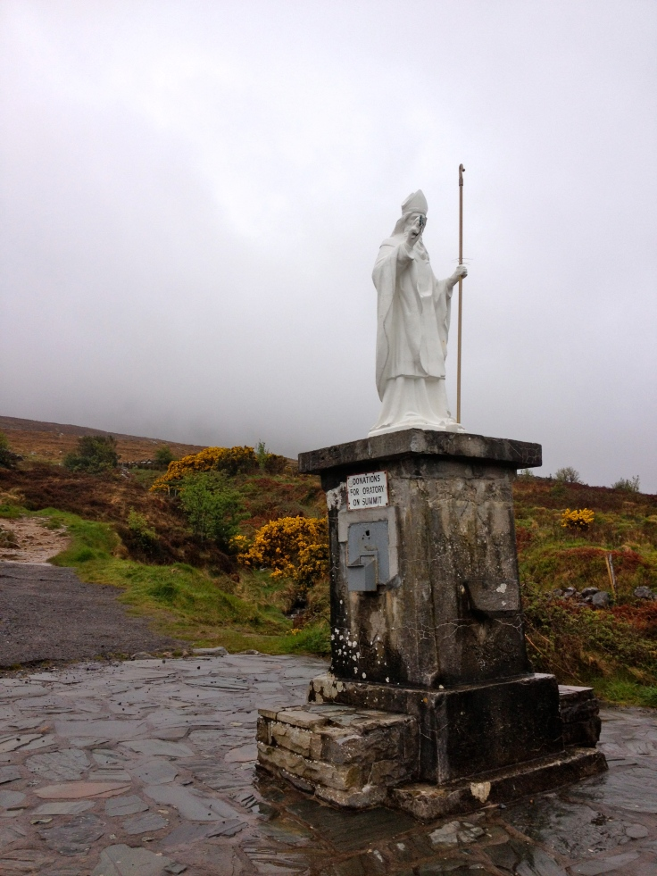 Statue of Saint Patrick at the base of Croagh Patrick.