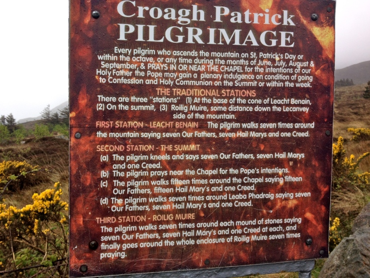 Instructions for climbing Croagh Patrick as a pilgrimage.